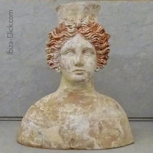 Bust of the goddess Tanit (photo from Ibiza-Click.com)